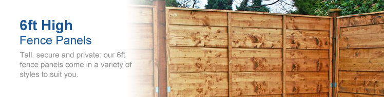 View all of our 6ft. Fence Panels below