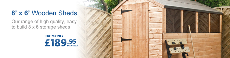View all of our 8' x 6' Wooden Sheds below