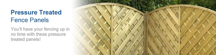 Pressure Treated Fence Panels