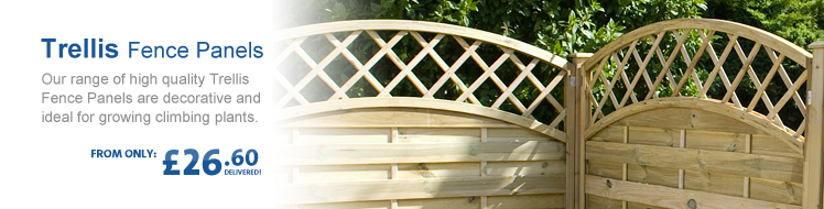 Trellis Edge Fence Panels
