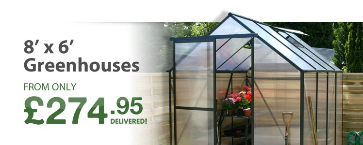 View all of our 8' x 6' Greenhouses below