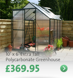 Click here - 10' x 6' Extra Tall Polycarb Greenhouse