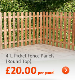 Click here - 4ft. Picket Round Top Panels