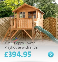 Click here - 7' x 5' Poppy Tower Playhouse and slide